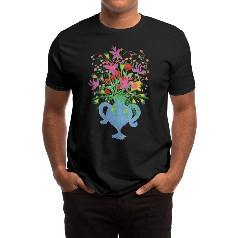Blue Vase Men's T-Shirt by Real Dominic Artwork
