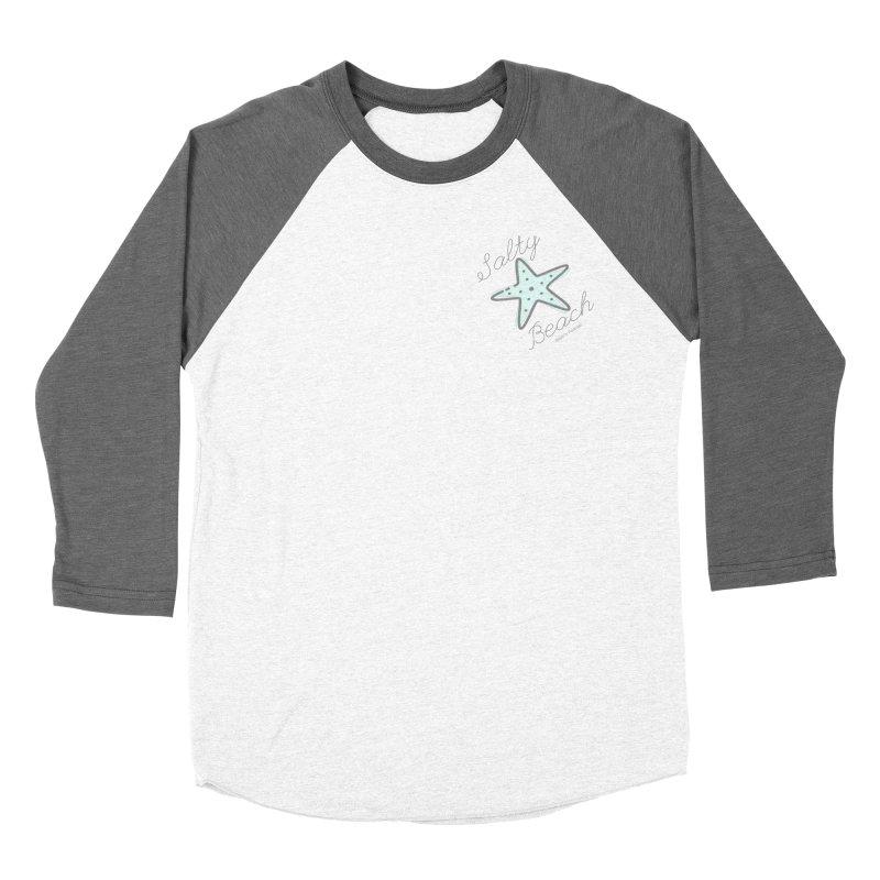 Salty Beach Green Women's Baseball Triblend Longsleeve T-Shirt by RealiTV Podcast Shop