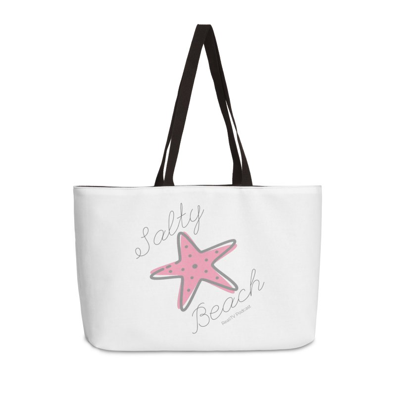 Salty Beach Pink Accessories Weekender Bag Bag by RealiTV Podcast Shop