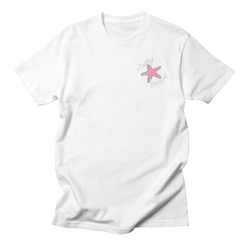 Salty Beach Pink Men's T-Shirt by RealiTV Podcast Shop