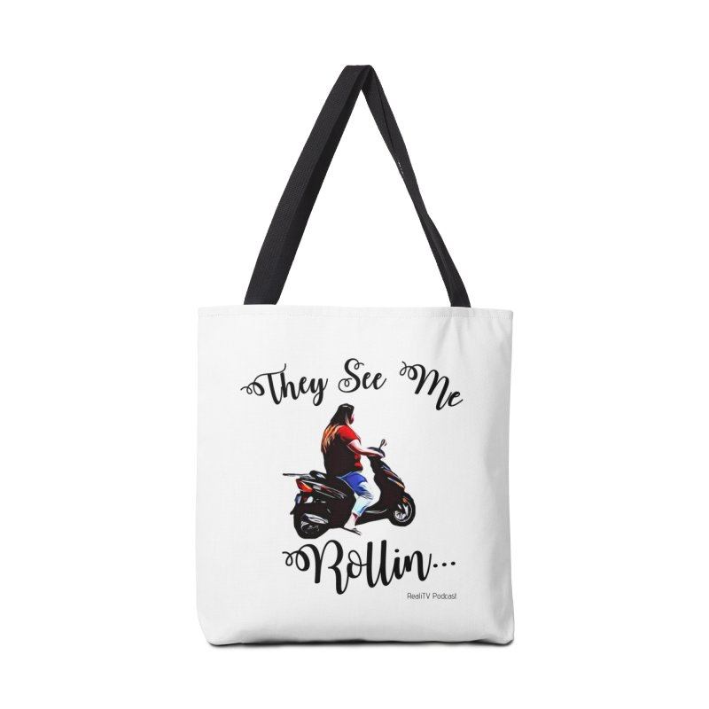 90 Day Scooter See Me Rollin... Accessories Tote Bag Bag by RealiTV Podcast Shop