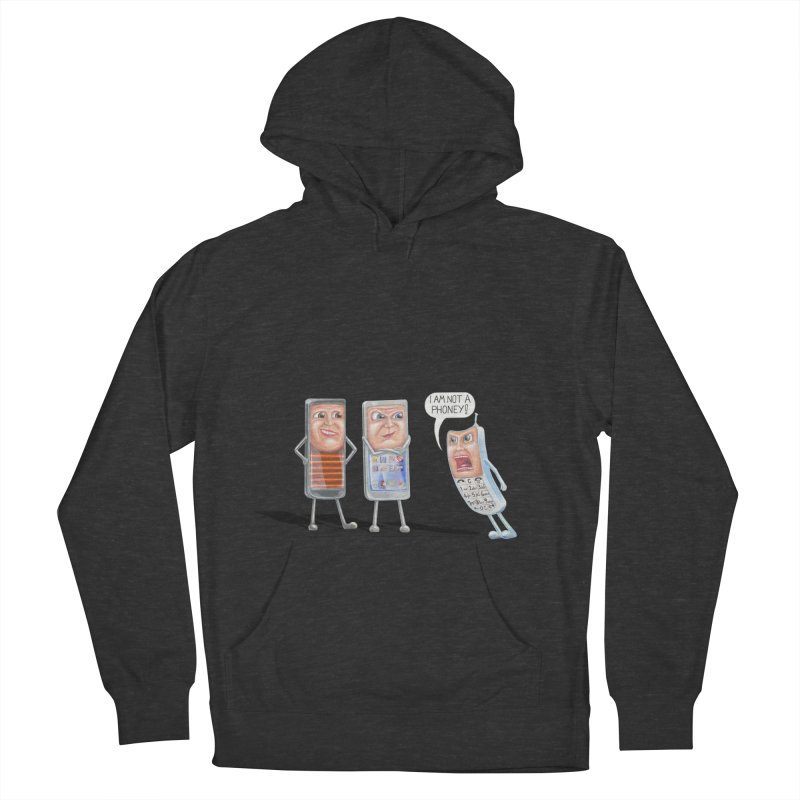 I Am Not A Phoney! Men's French Terry Pullover Hoody by RealZeal's Artist Shop