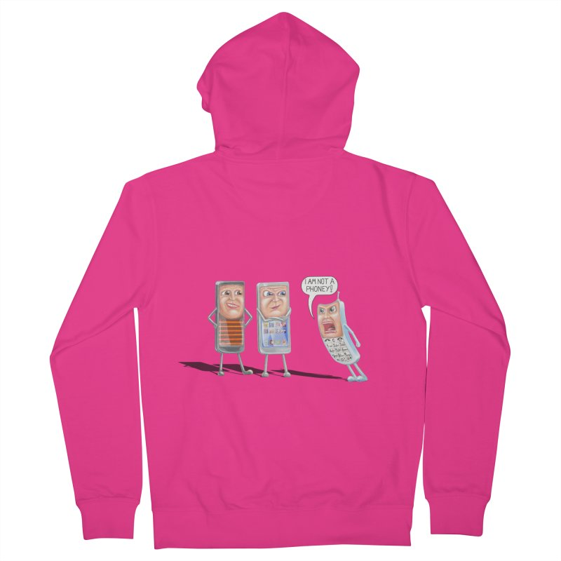 I Am Not A Phoney! Men's French Terry Zip-Up Hoody by RealZeal's Artist Shop