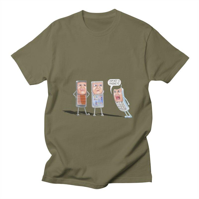 I Am Not A Phoney! Men's Regular T-Shirt by RealZeal's Artist Shop