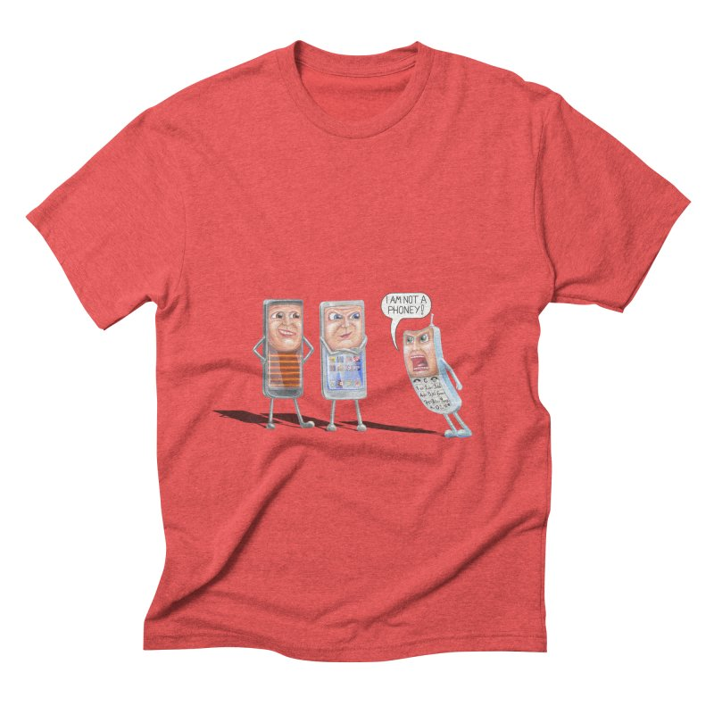 I Am Not A Phoney! Men's Triblend T-Shirt by RealZeal's Artist Shop
