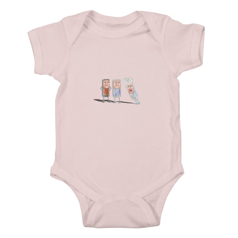 I Am Not A Phoney! Kids Baby Bodysuit by RealZeal's Artist Shop