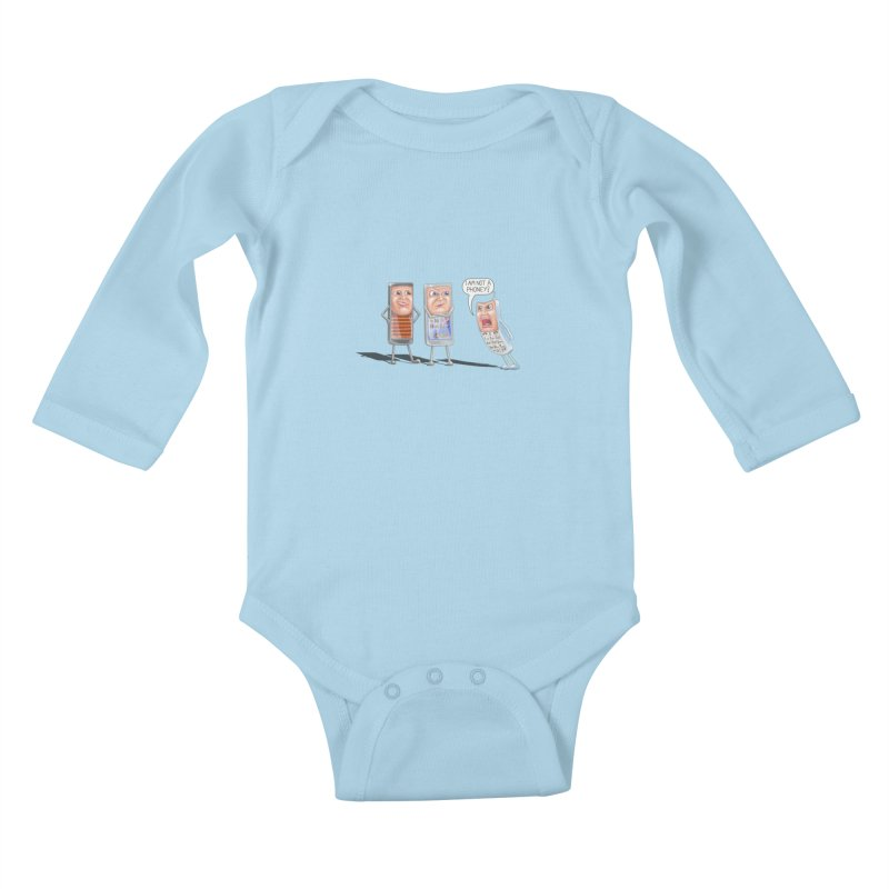 I Am Not A Phoney! Kids Baby Longsleeve Bodysuit by RealZeal's Artist Shop