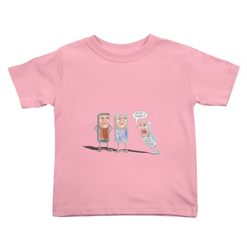 I Am Not A Phoney! Kids Toddler T-Shirt by RealZeal's Artist Shop