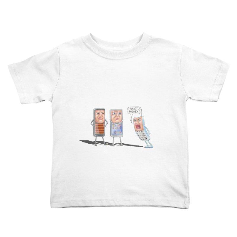 I Am Not A Phoney! Kids Toddler T-Shirt by RealZeal's Artist Shop