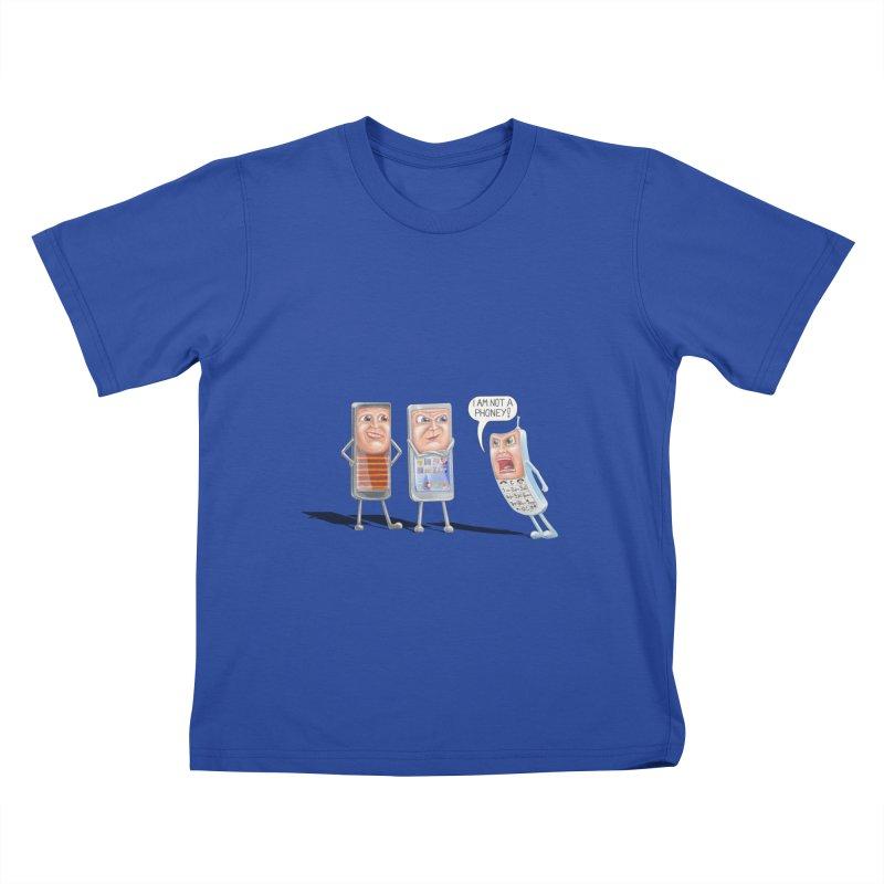 I Am Not A Phoney! Kids T-Shirt by RealZeal's Artist Shop