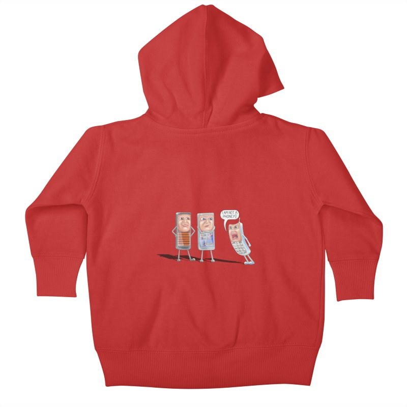 I Am Not A Phoney! Kids Baby Zip-Up Hoody by RealZeal's Artist Shop