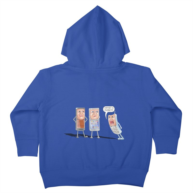 I Am Not A Phoney! Kids Toddler Zip-Up Hoody by RealZeal's Artist Shop