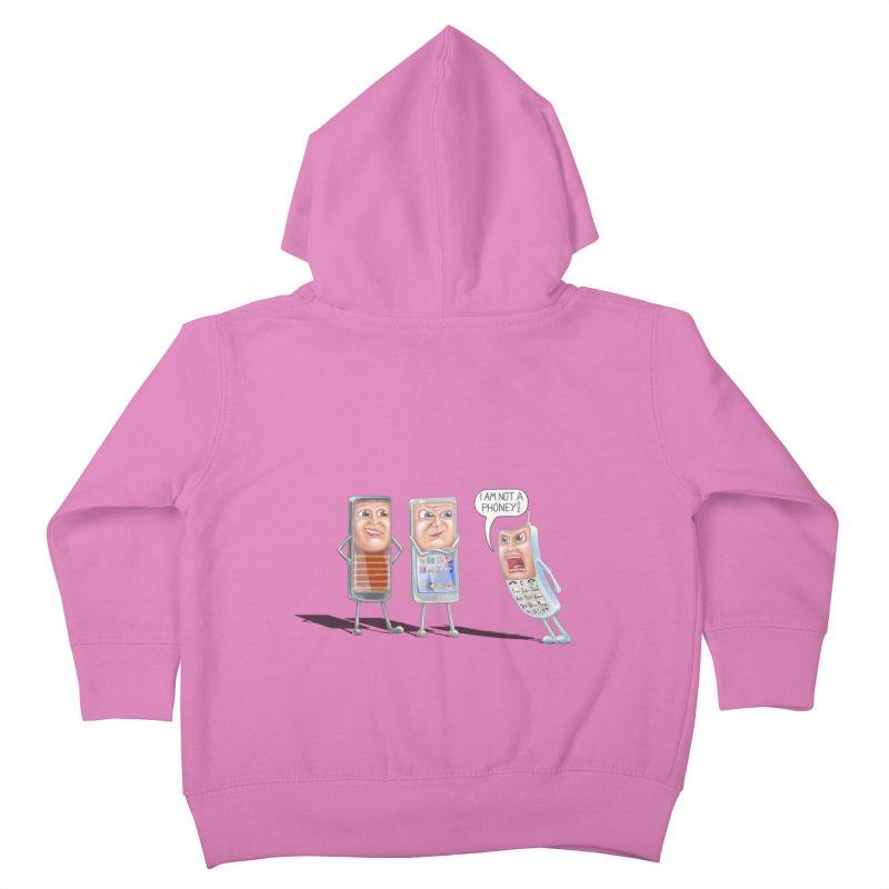 I Am Not A Phoney! Kids Toddler Zip-Up Hoody by RealZeal's Artist Shop