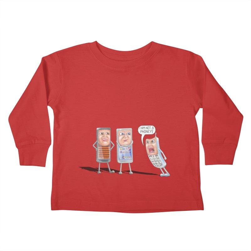 I Am Not A Phoney! Kids Toddler Longsleeve T-Shirt by RealZeal's Artist Shop
