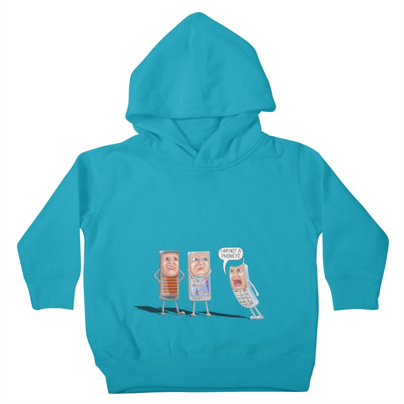 I Am Not A Phoney! Kids Toddler Pullover Hoody by RealZeal's Artist Shop