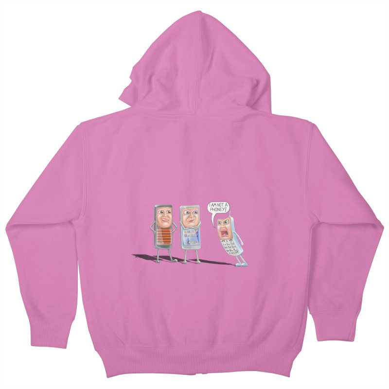 I Am Not A Phoney! Kids Zip-Up Hoody by RealZeal's Artist Shop