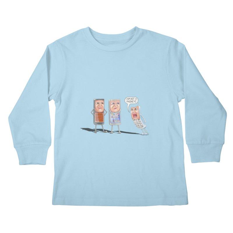 I Am Not A Phoney! Kids Longsleeve T-Shirt by RealZeal's Artist Shop