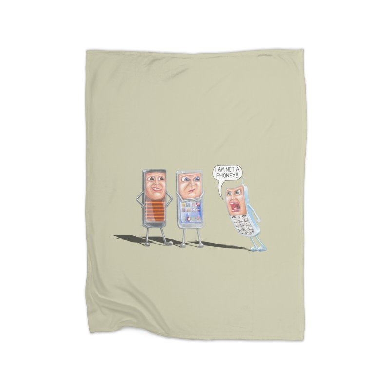 I Am Not A Phoney! Home Fleece Blanket Blanket by RealZeal's Artist Shop