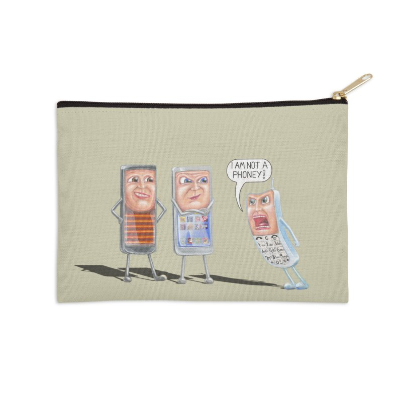 I Am Not A Phoney! Accessories Zip Pouch by RealZeal's Artist Shop