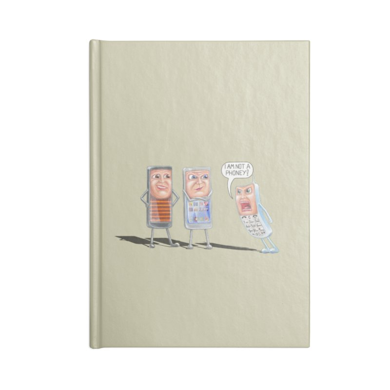 I Am Not A Phoney! Accessories Lined Journal Notebook by RealZeal's Artist Shop