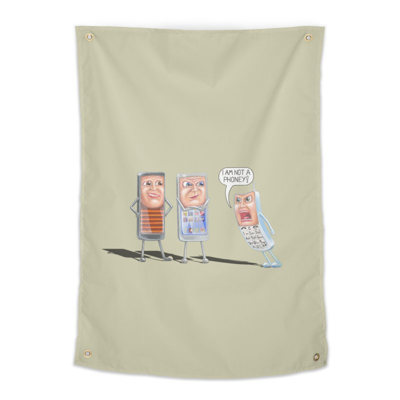 I Am Not A Phoney! Home Tapestry by RealZeal's Artist Shop