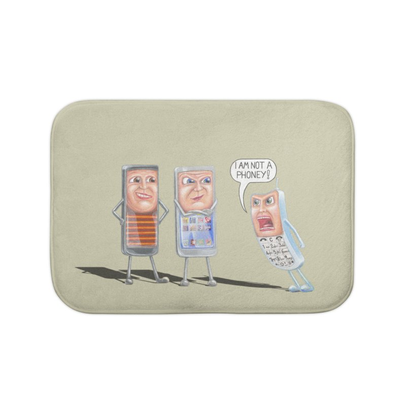 I Am Not A Phoney! Home Bath Mat by RealZeal's Artist Shop