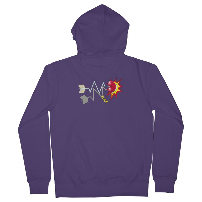In A Heartbeat Women's French Terry Zip-Up Hoody by RealZeal's Artist Shop