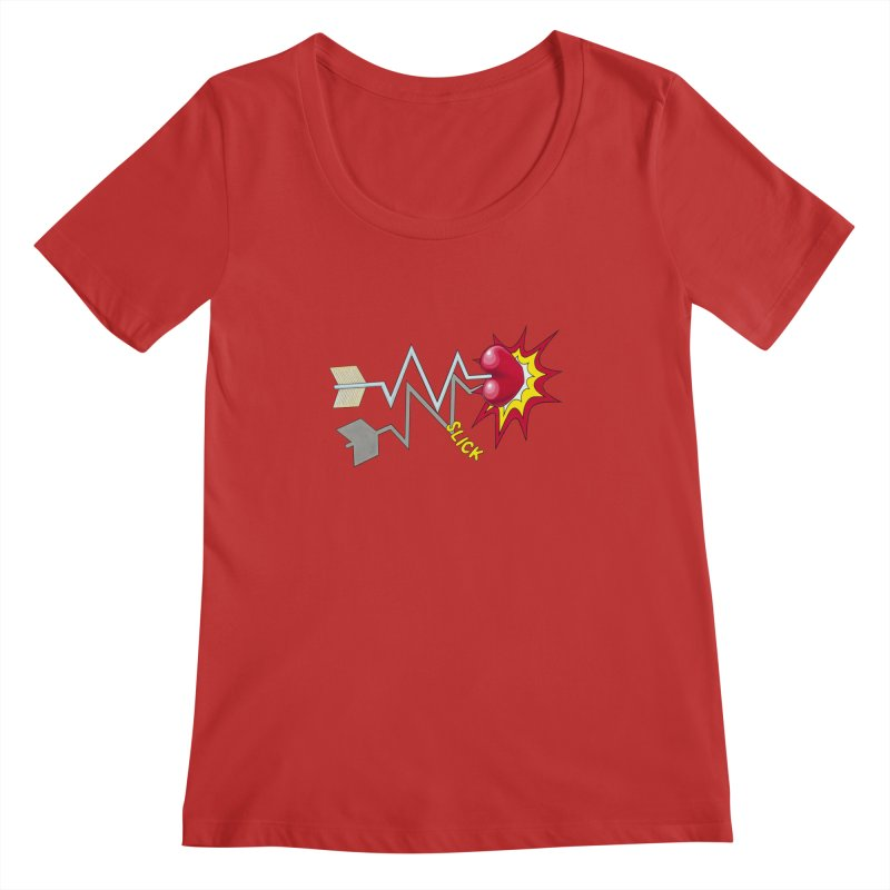 In A Heartbeat Women's Regular Scoop Neck by RealZeal's Artist Shop