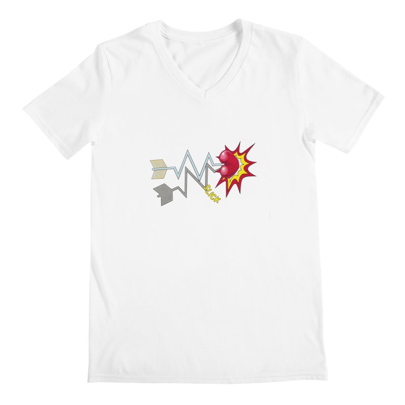 In A Heartbeat Men's V-Neck by RealZeal's Artist Shop