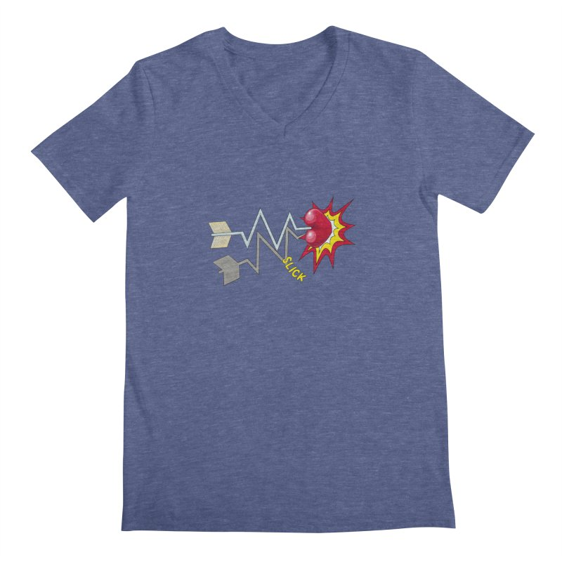 In A Heartbeat Men's Regular V-Neck by RealZeal's Artist Shop