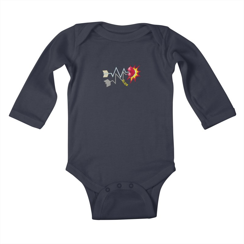In A Heartbeat Kids Baby Longsleeve Bodysuit by realzeal's Artist Shop