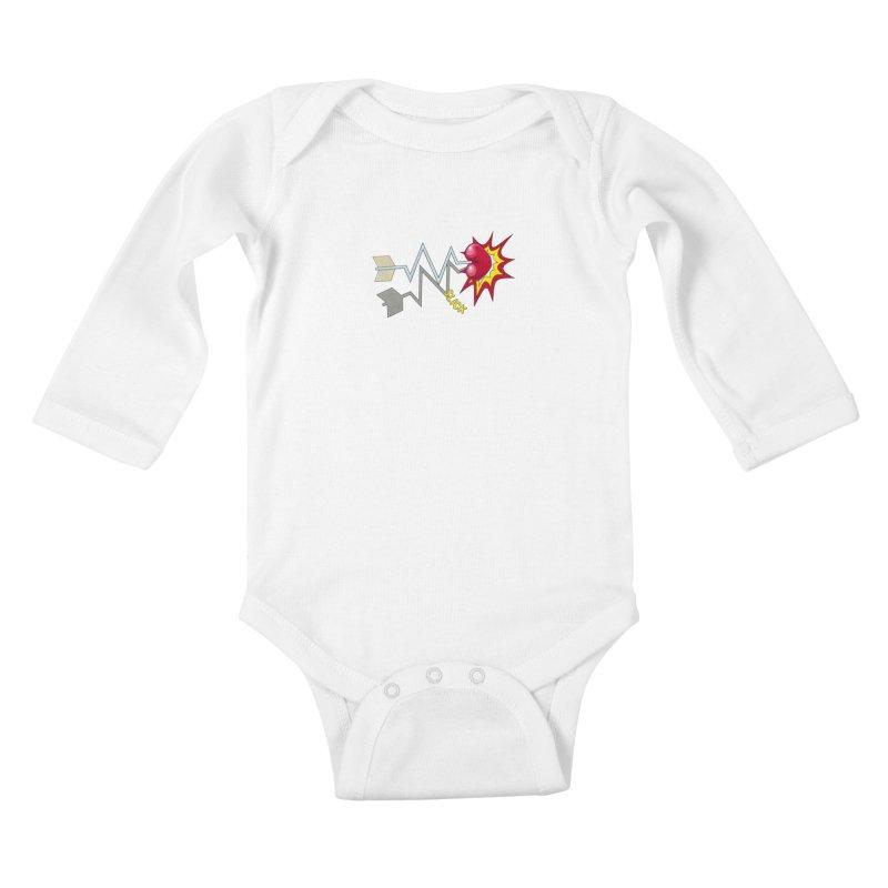 In A Heartbeat Kids Baby Longsleeve Bodysuit by RealZeal's Artist Shop