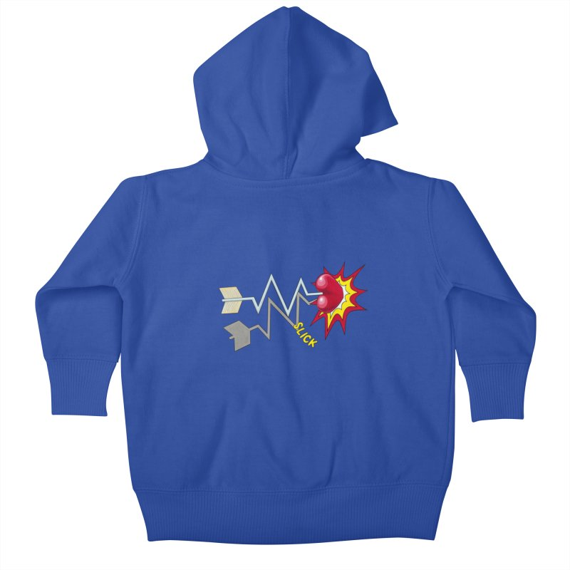 In A Heartbeat Kids Baby Zip-Up Hoody by RealZeal's Artist Shop