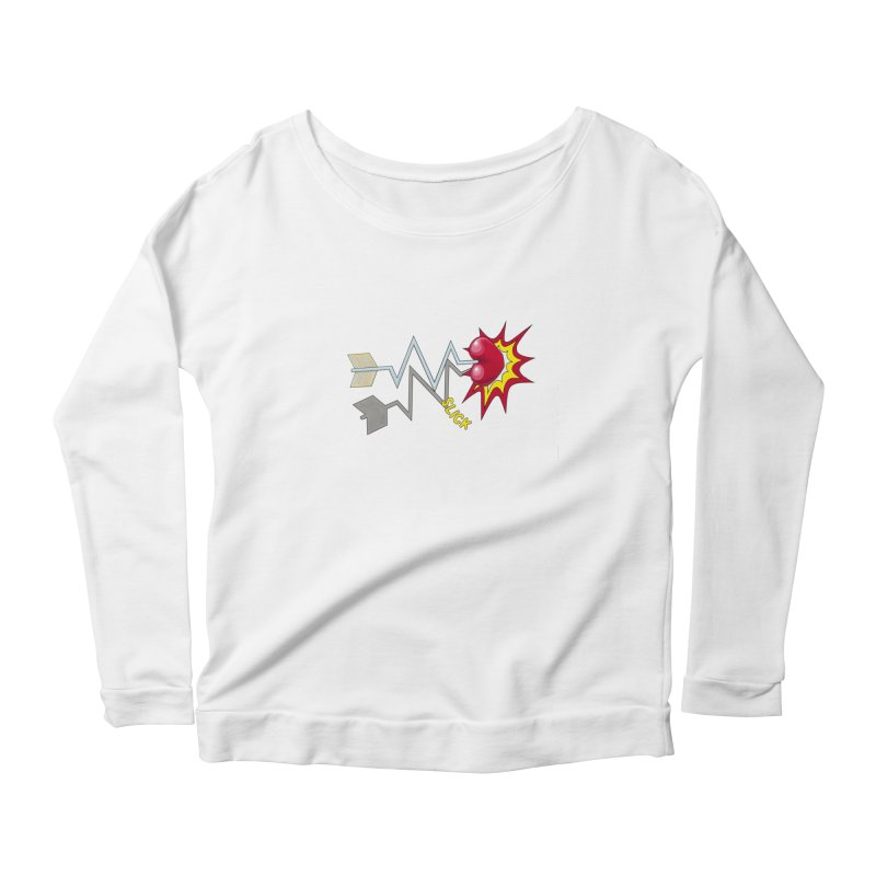 In A Heartbeat Women's Scoop Neck Longsleeve T-Shirt by RealZeal's Artist Shop
