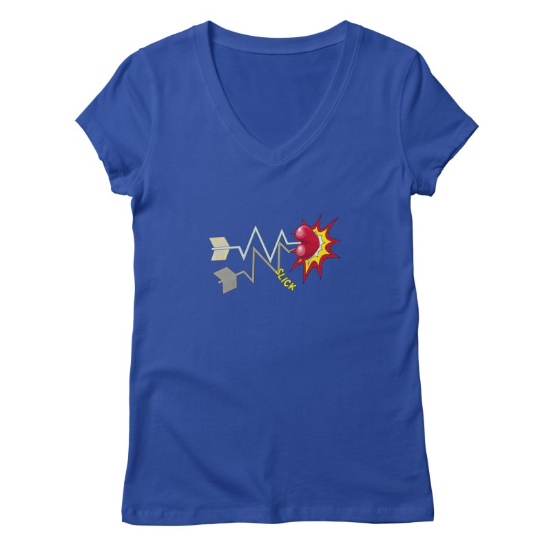 In A Heartbeat Women's V-Neck by RealZeal's Artist Shop