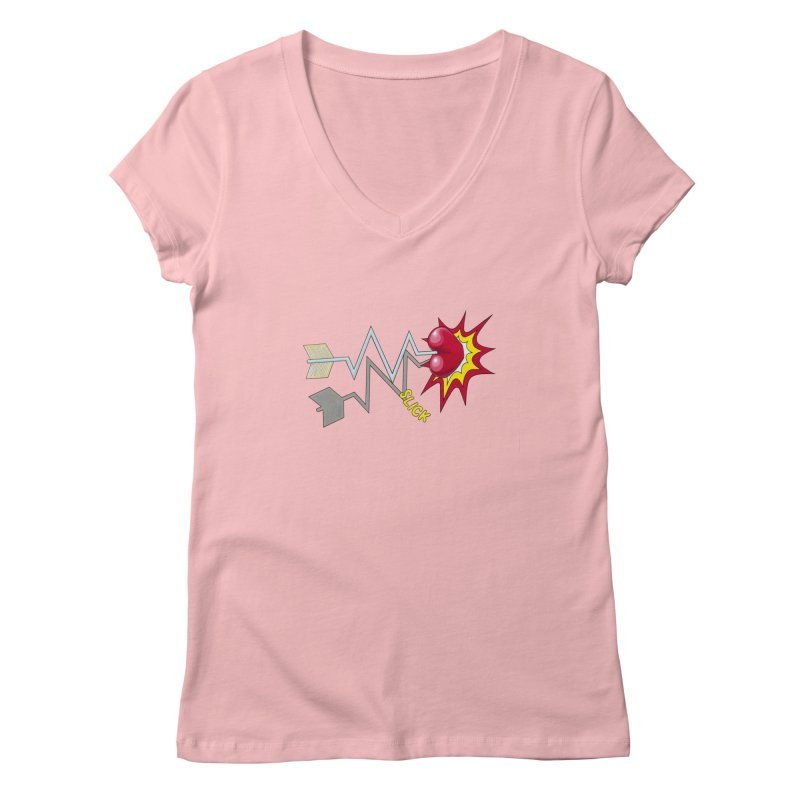 In A Heartbeat Women's Regular V-Neck by RealZeal's Artist Shop
