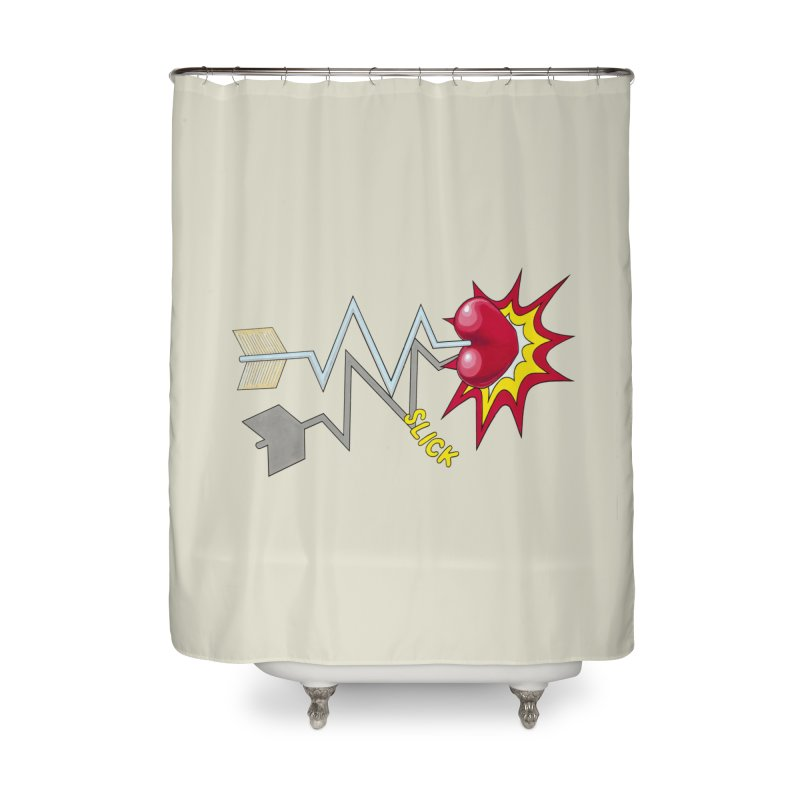In A Heartbeat Home Shower Curtain by RealZeal's Artist Shop
