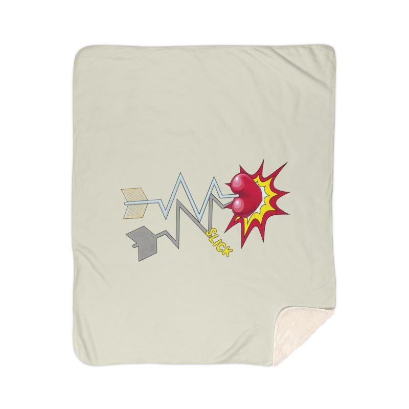 In A Heartbeat Home Sherpa Blanket Blanket by RealZeal's Artist Shop