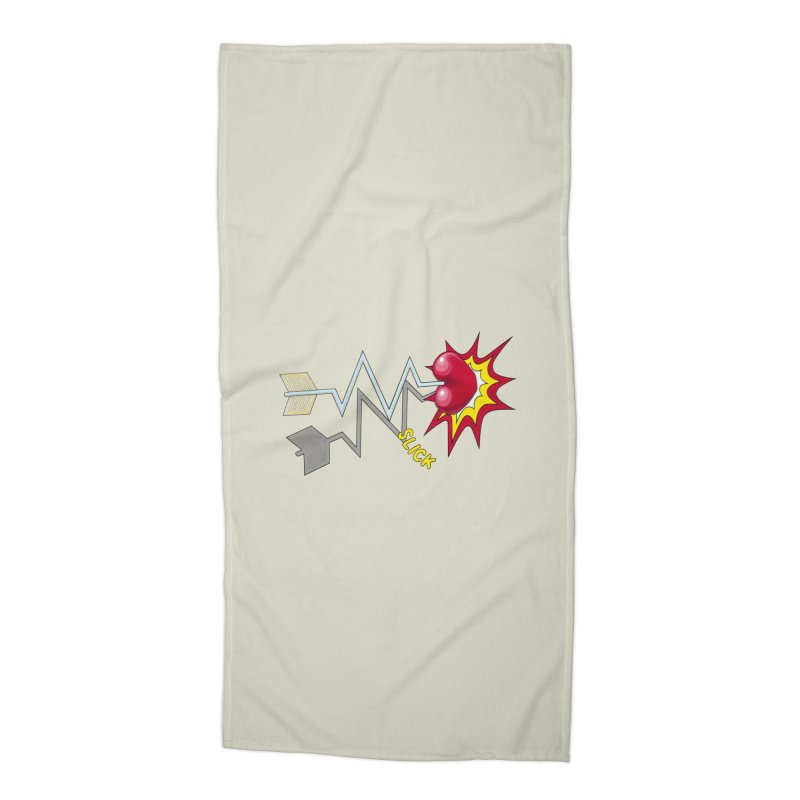 In A Heartbeat Accessories Beach Towel by RealZeal's Artist Shop