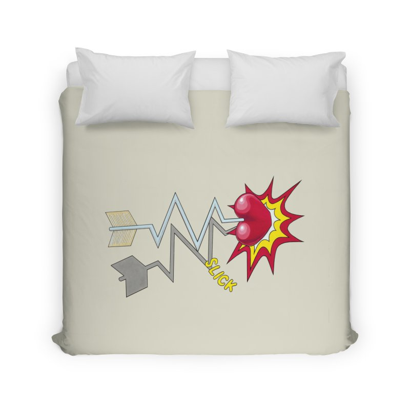 In A Heartbeat Home Duvet by RealZeal's Artist Shop