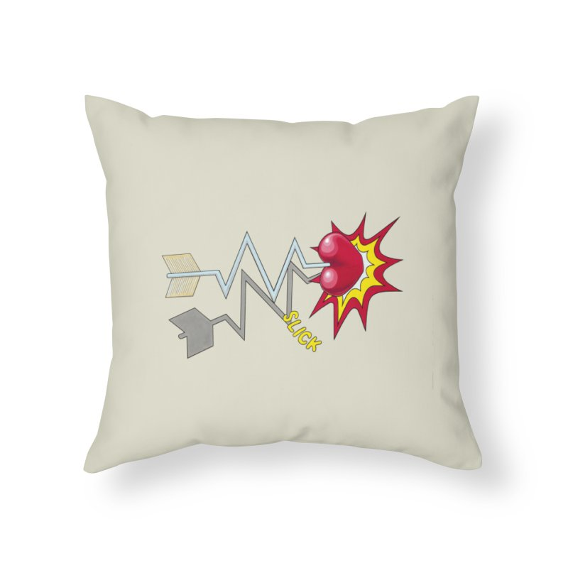 In A Heartbeat Home Throw Pillow by RealZeal's Artist Shop