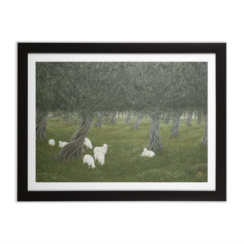 Shamble Grove.....an eerie silence.  Home Framed Fine Art Print by RealZeal's Artist Shop