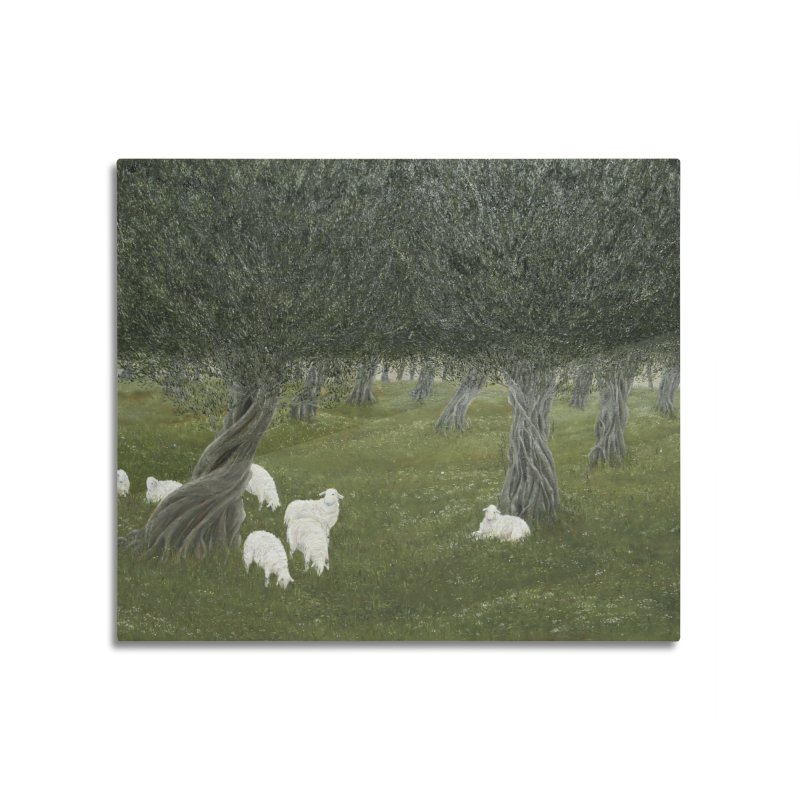 Shamble Grove.....an eerie silence.  Home Mounted Aluminum Print by RealZeal's Artist Shop