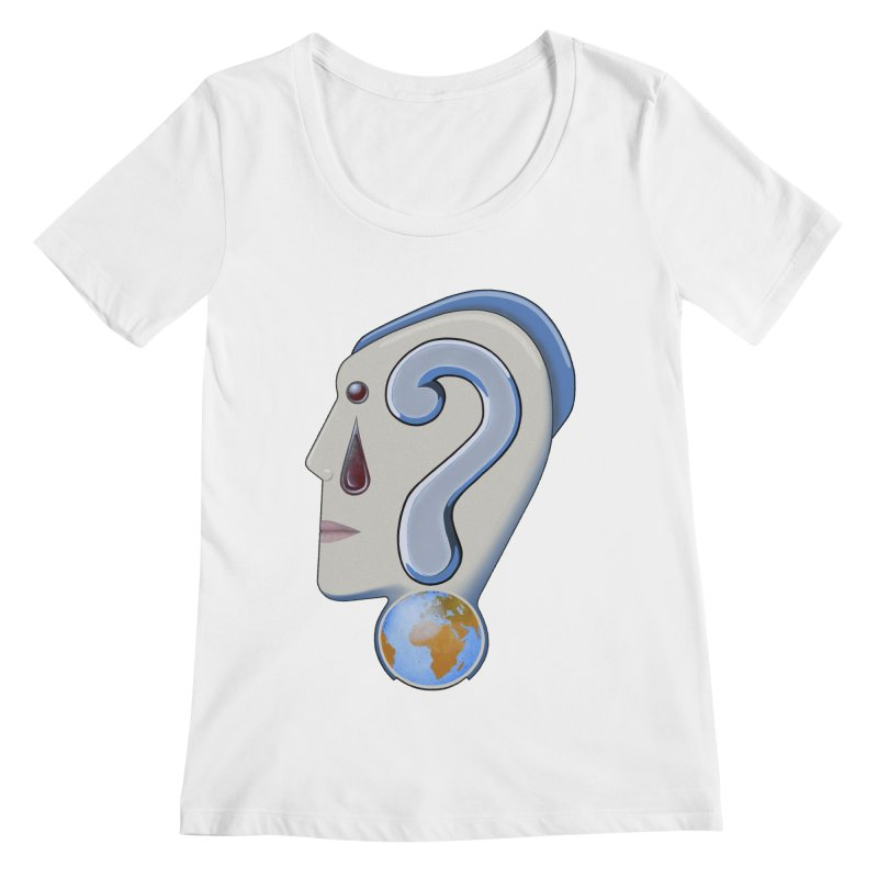 STOPPER 3......Strange things are happening. Women's Scoopneck by RealZeal's Artist Shop