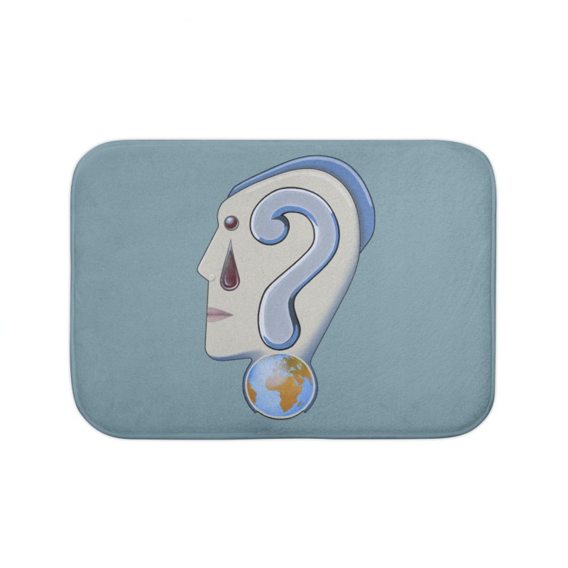 STOPPER 3......Strange things are happening. Home Bath Mat by RealZeal's Artist Shop