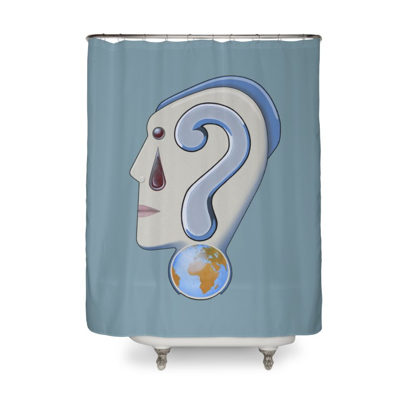 STOPPER 3......Strange things are happening. Home Shower Curtain by RealZeal's Artist Shop
