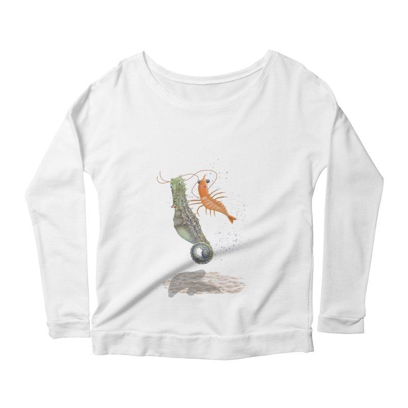 DRIFTER...... Women's Scoop Neck Longsleeve T-Shirt by RealZeal's Artist Shop