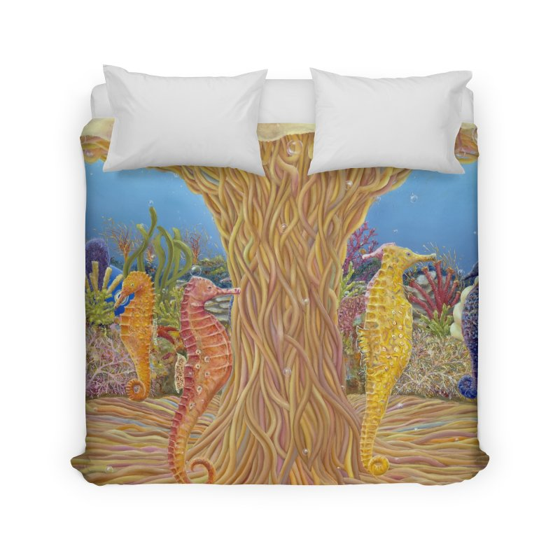 Seahorse Carousel.........Fantasy under the wondrous Sea Home Duvet by RealZeal's Artist Shop