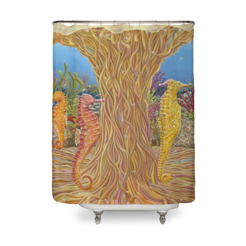 Seahorse Carousel.........Fantasy under the wondrous Sea Home Shower Curtain by RealZeal's Artist Shop