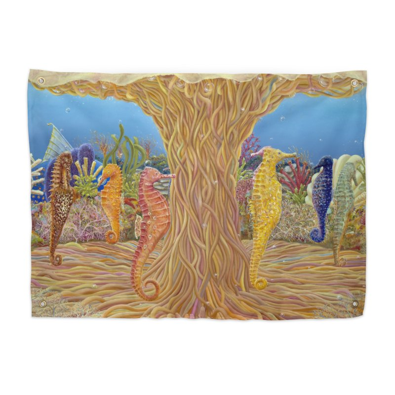 Seahorse Carousel.........Fantasy under the wondrous Sea Home Tapestry by RealZeal's Artist Shop